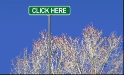"Road sign saying ""Click here"""