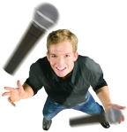 juggling podcast microphones