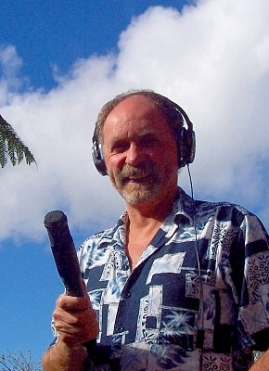Alistair McAlpine - Web Writer recording in the field