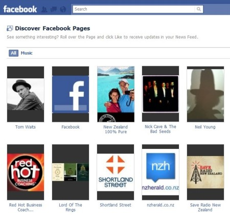 discover facebook pages page clip